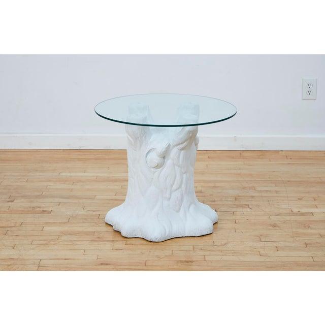 John Dickinson Vintage Plaster Tree Trunk Side Table For Sale - Image 4 of 13