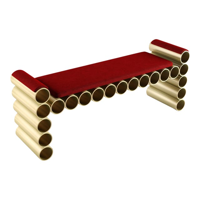 Pipe Bench by Artist Troy Smith - Contemporary Design - Artist Proof - Custom Furniture - Limited Edition For Sale