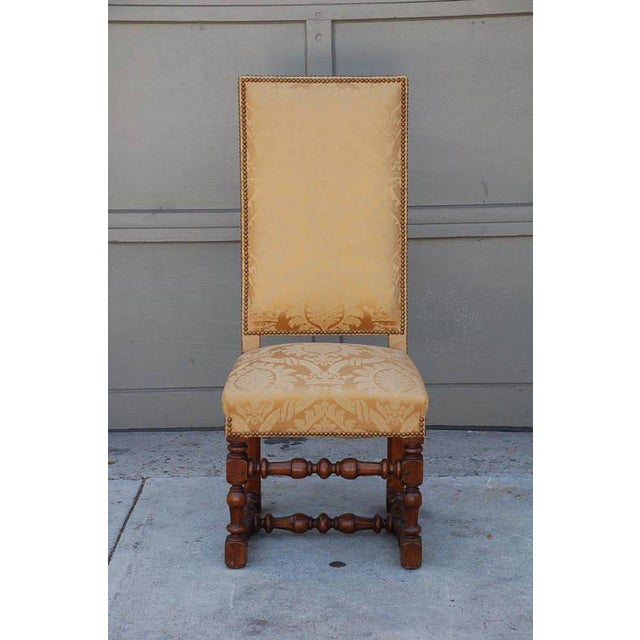 Textile Pair of Exceptional French Gold Chairs For Sale - Image 7 of 7