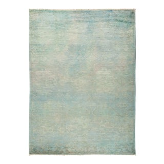 """One-of-a-Kind Contemporary Vibrance Hand-Knotted Area Rug 6' 3"""" x 8' 9"""" For Sale"""