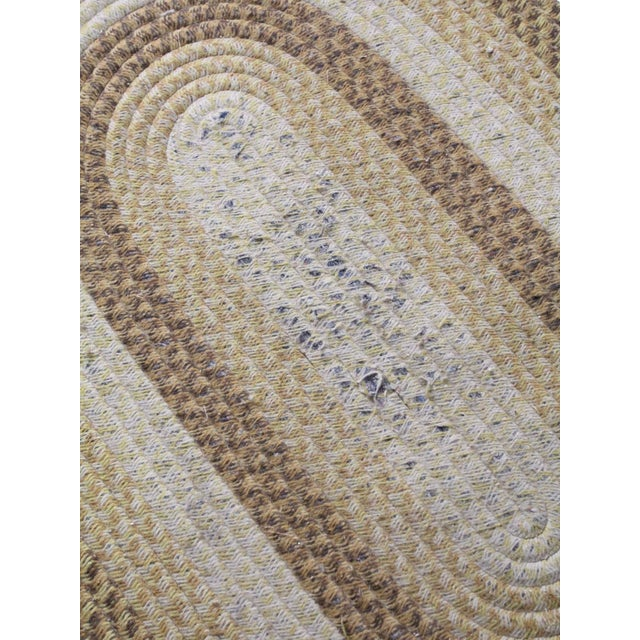 Textile Vintage Braided Wool Accent Rug For Sale - Image 7 of 8