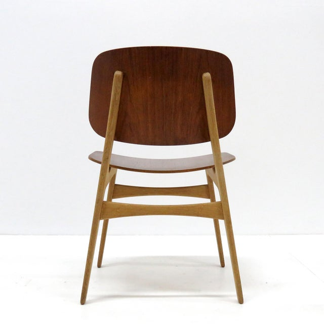 Wood Set of 5 Børge Mogensen Dining Chairs, 1950s For Sale - Image 7 of 13