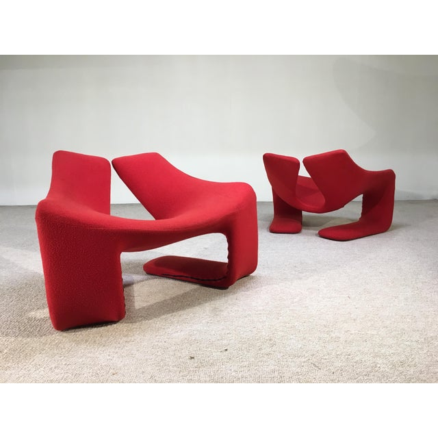 "Molded foam over sculpted steel ""Zen"" chair by Kwok Hoi Chan for Steiner in Paris. Very comfortable and romantic design..."