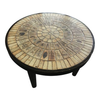1970s French Roger Capron Coffee Table For Sale