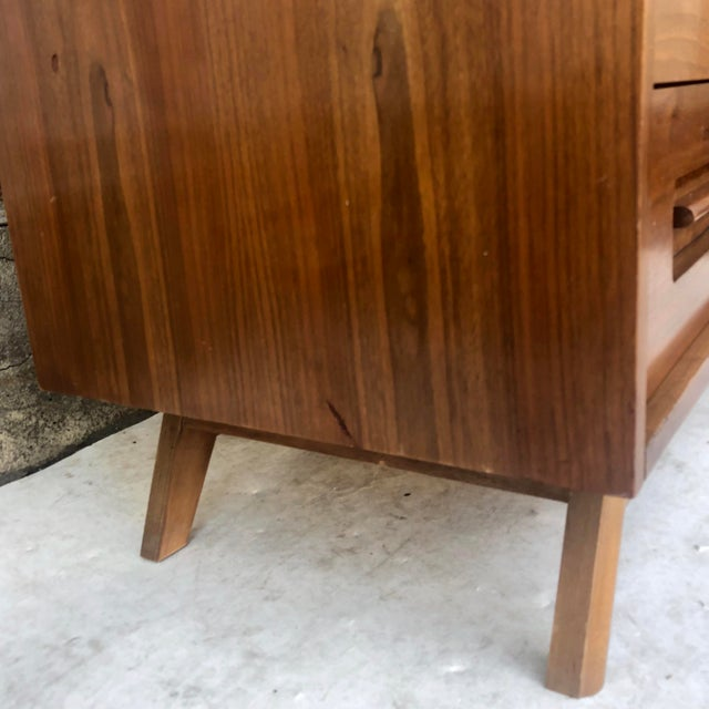Mid-Century Modern Sliding Front Highboy Dresser For Sale - Image 12 of 13