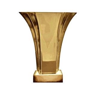 1970's Art Deco Stiffel Brass Fan Shaped Boudoir Lamp For Sale