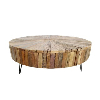 Reclaimed Round Coffee Table For Sale