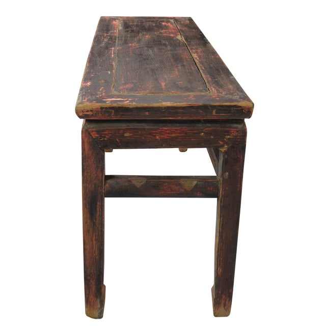 1940s Rustic Shandong Elm Bench For Sale - Image 5 of 7