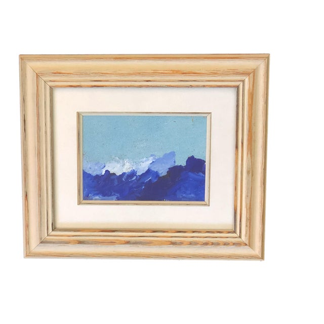 """2000 - 2009 Yjr Acrylic on Paper Framed Landscape 11"""" by 13"""" For Sale - Image 5 of 5"""