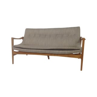 Gray Mid-Century Modern Style Sofa For Sale