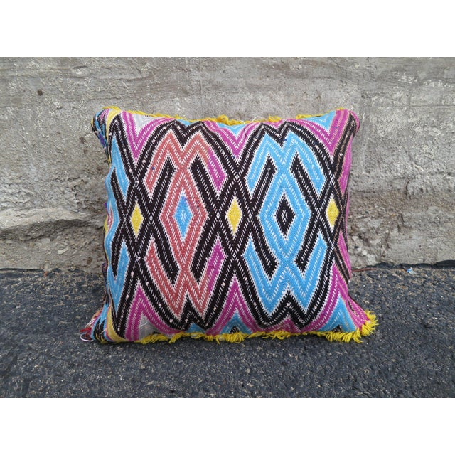 Traditionally featuring geometric and stripe patters. Pillows come STUFFED.