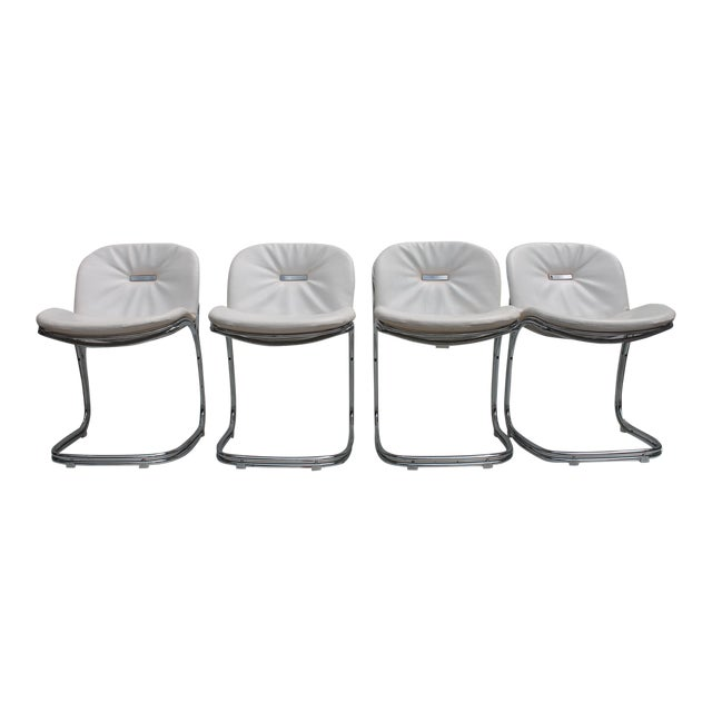 Gastone Rinaldi Italian Chrome Chairs - Set of 4 - Image 1 of 11