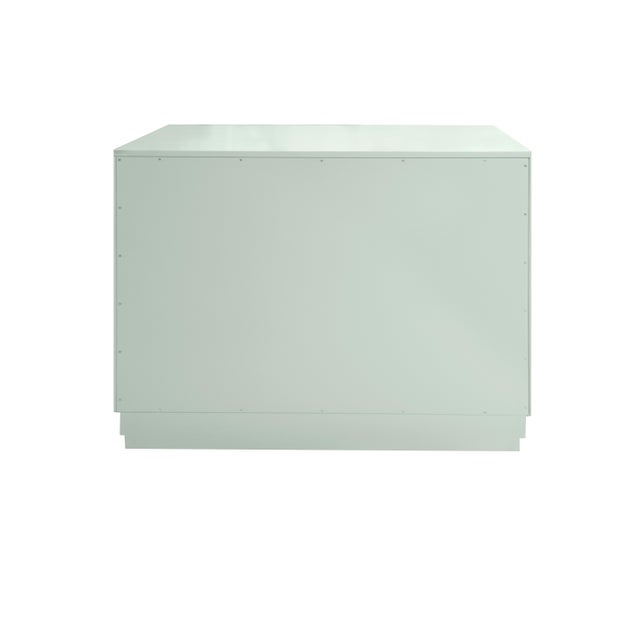 Kindel Furniture Minimalistic Maple Filing Cabinet From Garden Street in Ocean For Sale - Image 4 of 6