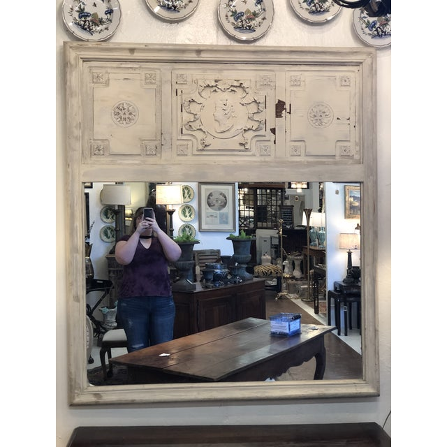 Antique French Trumeau Mirror For Sale - Image 13 of 13
