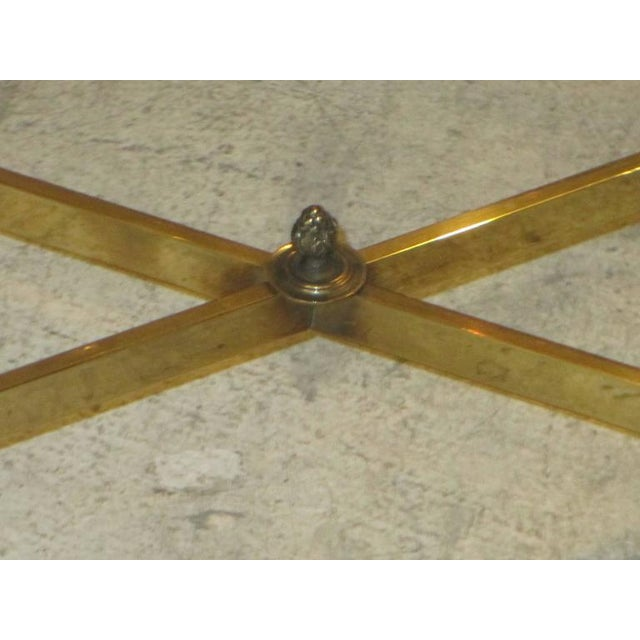 Bagues Brass Coffee Table With Marble Top For Sale In New York - Image 6 of 7