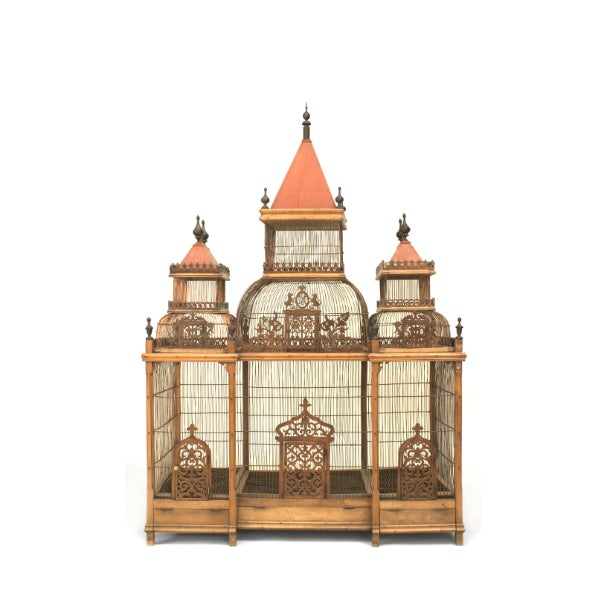 Large Turn of the Century French Birdcage For Sale - Image 4 of 4