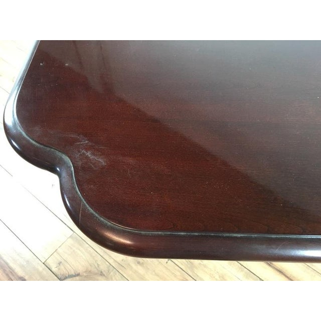 Federal Style Mahogany Dining Table For Sale - Image 4 of 7