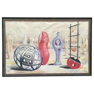 1949 Mid-Century Modern Henry Moore Sculptural Objects Lithograph For Sale