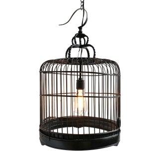 Vintage Bird Cage Pendant Light For Sale