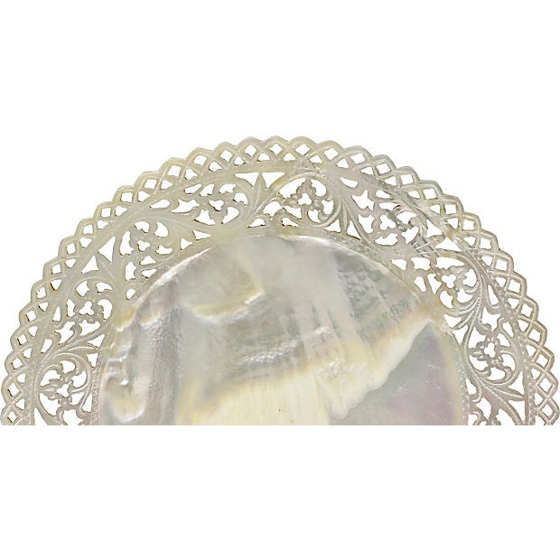 Cottage Antique Mother-Of-Pearl Caviar Plate For Sale - Image 3 of 5