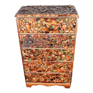Folk Art 5-Drawer Mosaic Picasso Dresser For Sale