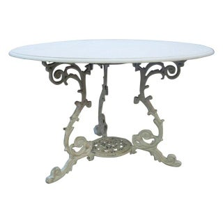 Scrolled Iron Base Table For Sale