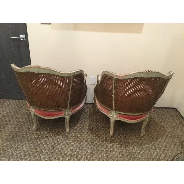 Wood Late 18th Century French Cane Bergere Chairs- a Pair For Sale - Image 7 of 13