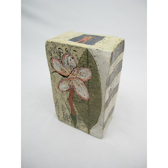 Ceramic Betsy Wolfston Pottery House Blessing Box For Sale - Image 7 of 7