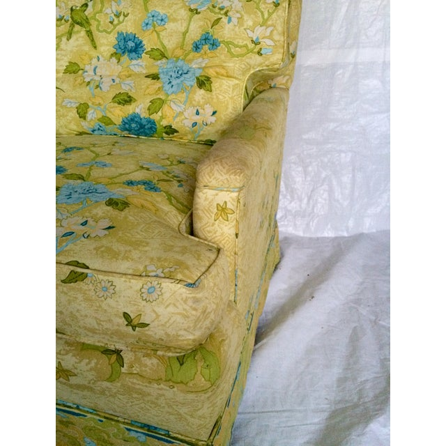 Floral Print Club Chairs by Century - A Pair - Image 6 of 7