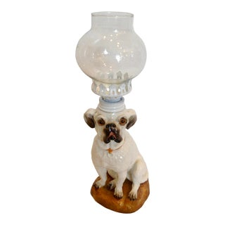 19Th Century Dog Form Miniature Oil Lamp For Sale