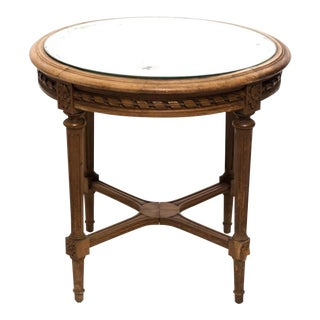 1920s French Mirror Top Side Table For Sale