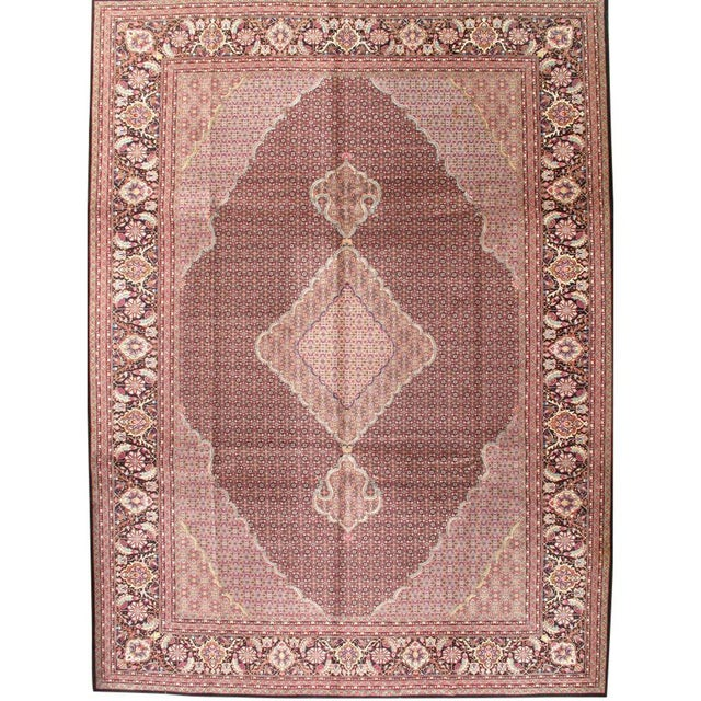 """Boho Chic Pasargad N Y Fish Design Hand-Knotted Sino Tabriz Rug - 10'2"""" X 14' For Sale - Image 3 of 3"""