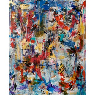 """Contemporary Abstract Painting """"I Believe"""" by Joseph Conrad-Ferm For Sale"""