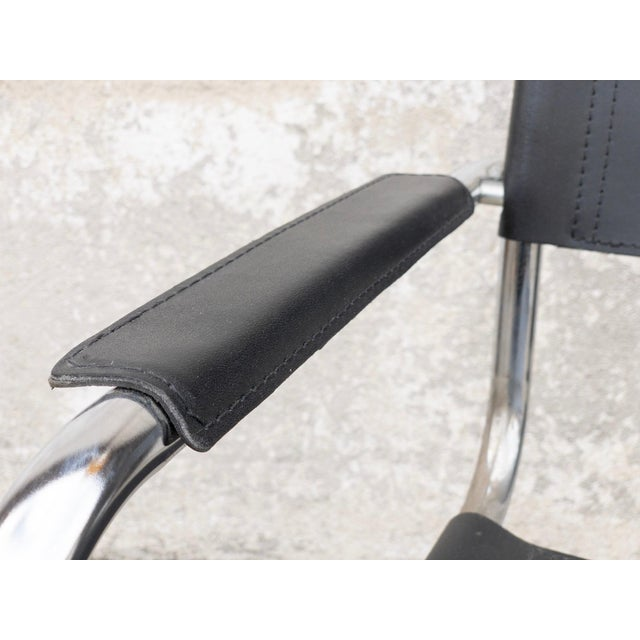 Vintage Mart Stam cantilever charm and comfort. Sleek and minimalistic, this cantilever wonder is a classic.