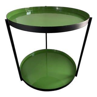 Cb2 Green Round 'Luck' Side Table For Sale