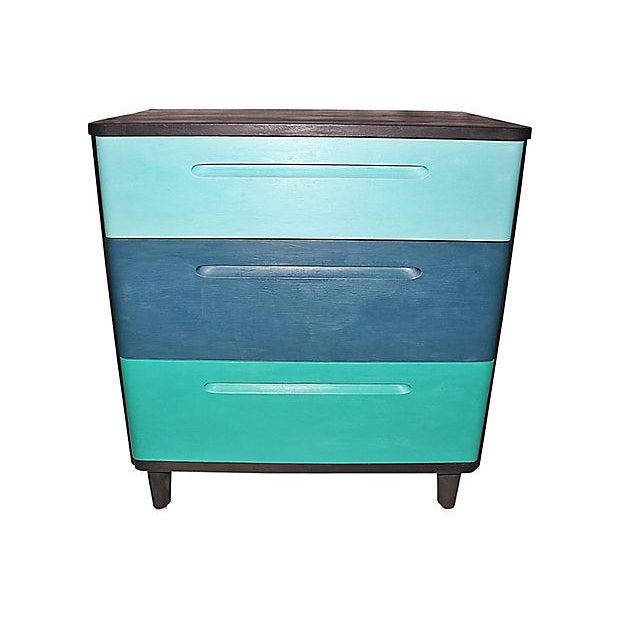 Wood Huntington Mid-Century Modern Painted Dresser For Sale - Image 7 of 7