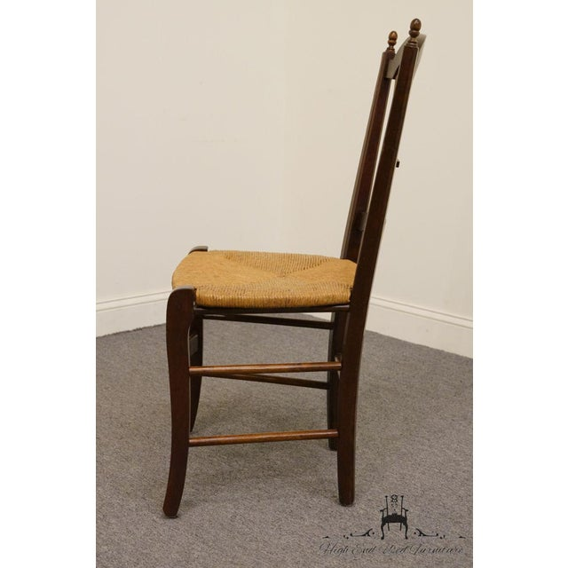 Late 20th Century 20th Century Early American Solid Cherry Wheat Back Dining Side Chair For Sale - Image 5 of 8