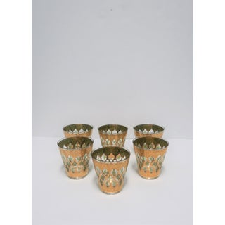 Set of 6 Vintage 22-Karat Gold Rocks Glasses With Moroccan Design Preview