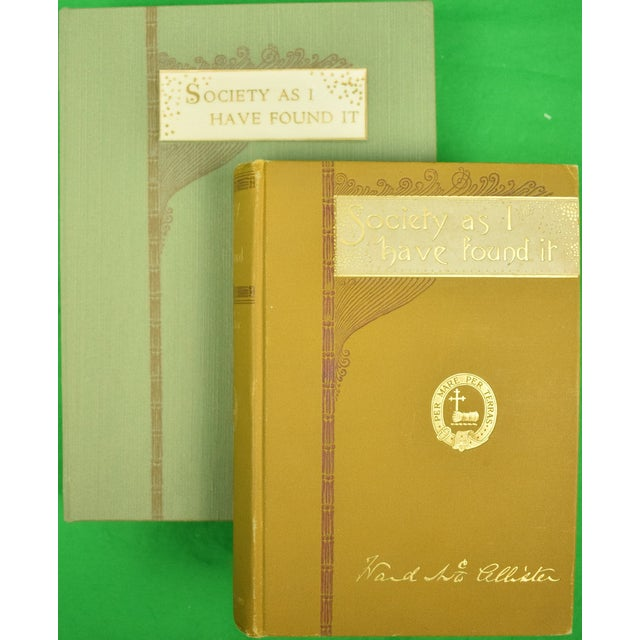 """Society as I Have Found It"" 1890 Ex-Edith Wharton For Sale"