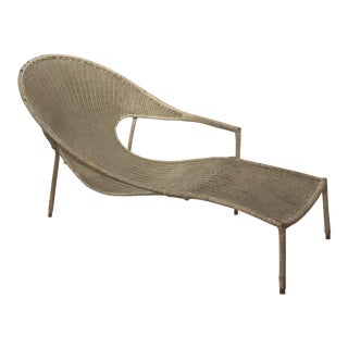 Francis Mair Sculptural Wicker Lounge Chair For Sale