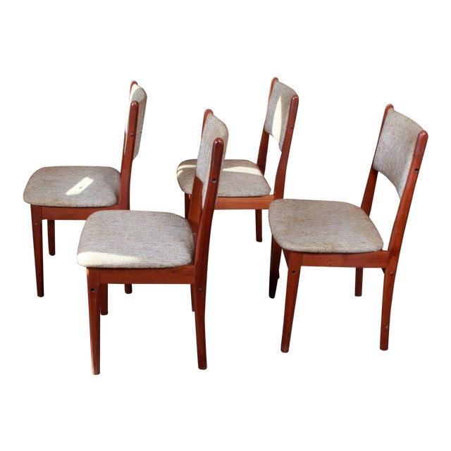 Vintage Teak Danish Modern Dining Chairs - Set of 4 - Image 1 of 9