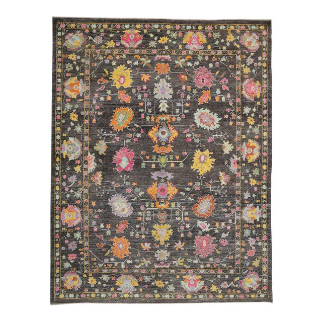 Contemporary Turkish Oushak Rug with Modern Style For Sale