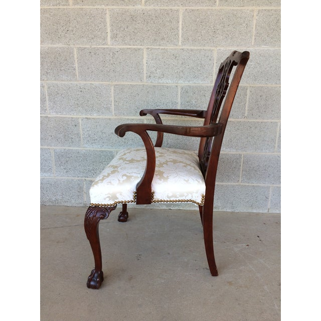 Vintage Baker Chippendale Style Ball & Claw Mahogany Dining Chairs - Set of 6 - Image 4 of 10