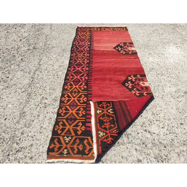 Vintage Kilim Runner - 3′5″ × 9′2″ - Image 3 of 7