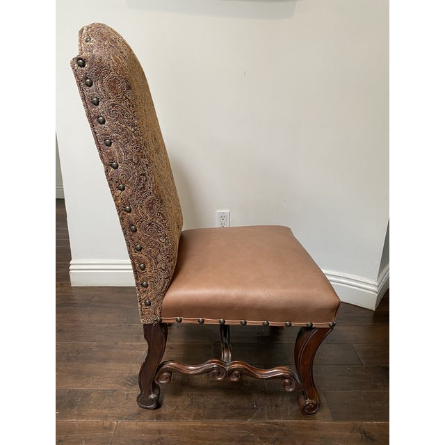 Vintage French Louis XV Style Dining Chairs - Set of 8 For Sale - Image 4 of 13