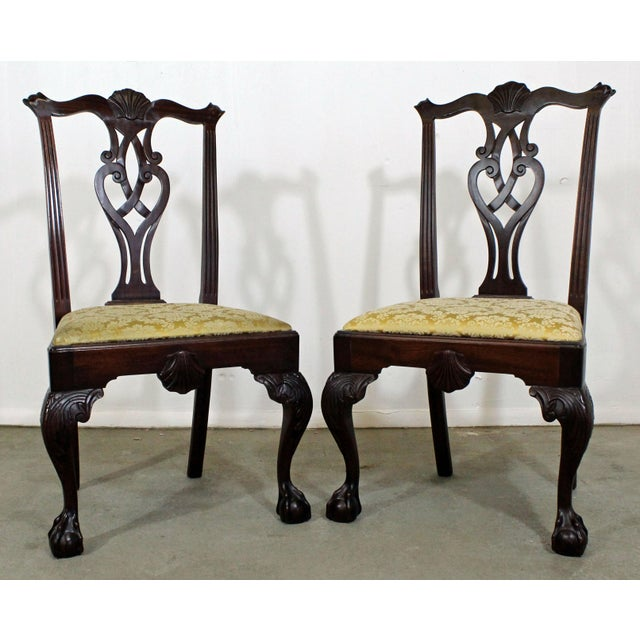 Pair of Chippendale Ball & Claw Mahogany Dining Chairs For Sale - Image 13 of 13