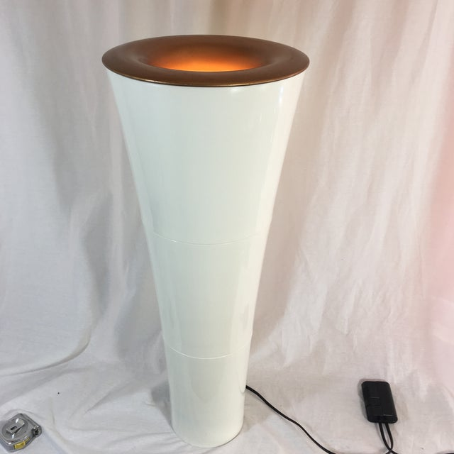 Vintage Kaoyi Plastic Cone-Up Lighting Floor Lamp | Chairish