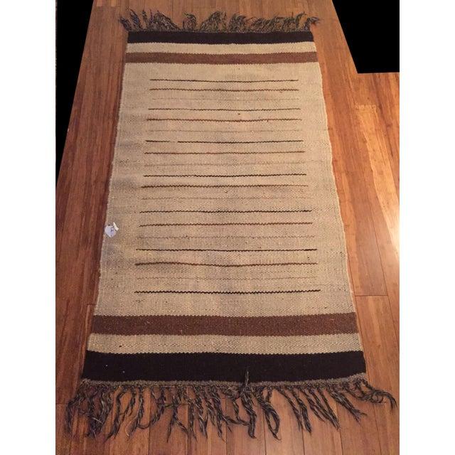 Vintage Moroccan Hand Woven Flatweave Rug - Image 8 of 8