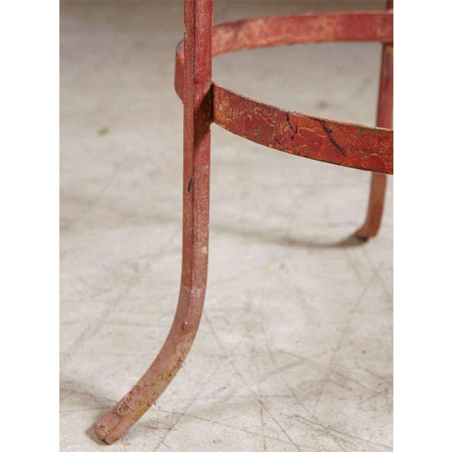 Wrought Iron End Tables - A Pair For Sale - Image 5 of 7