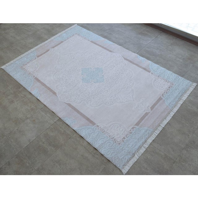 2010s Traditional Oushak Pattern Inspired Area Rug - 5′1″ X 7′7″ For Sale - Image 5 of 11